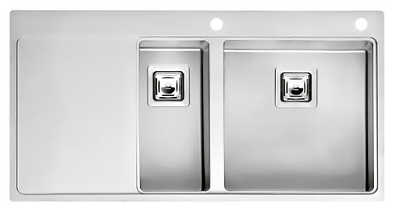 Кухонная мойка Reginox Nevada 18x40 LUX OKG right L сталь кухонная мойка reginox chicago l lux okg сталь