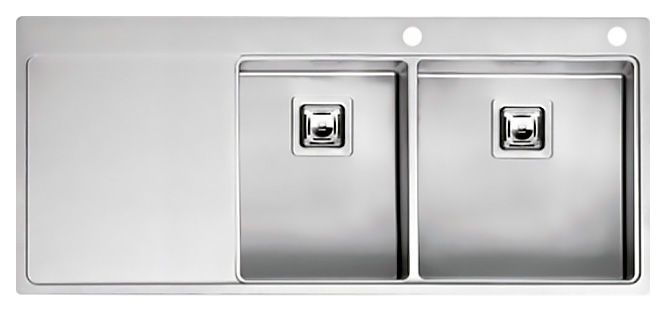 Кухонная мойка Reginox Nevada 30x40 LUX OKG right L сталь кухонная мойка reginox chicago l lux okg сталь