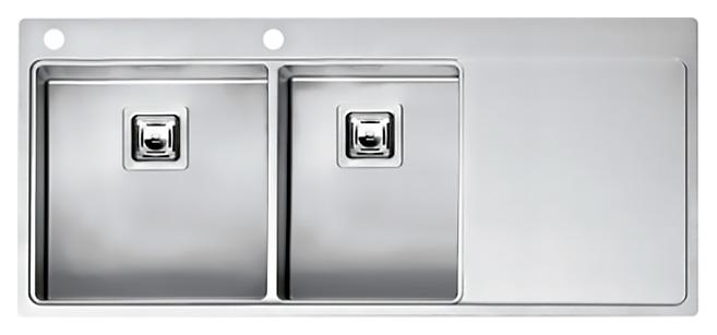 Кухонная мойка Reginox Nevada 40x30 LUX OKG left L сталь кухонная мойка reginox chicago l lux okg сталь
