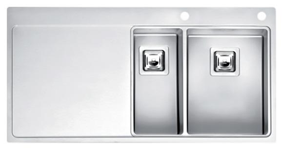 Кухонная мойка Reginox Nevada 18x30 LUX OKG right L сталь кухонная мойка reginox chicago l lux okg сталь