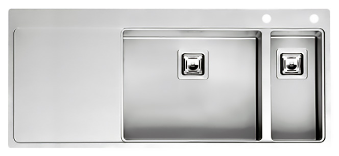 Кухонная мойка Reginox Nevada 50x18 LUX OKG right L сталь кухонная мойка reginox chicago l lux okg сталь