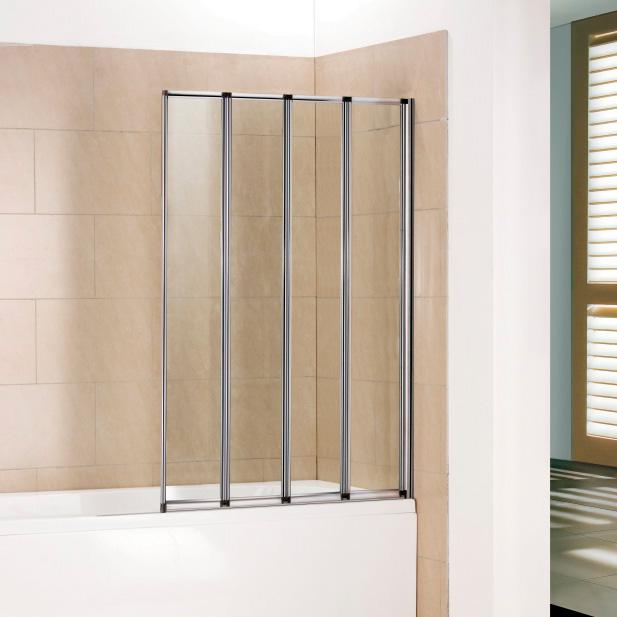 Шторка для ванны RGW SC-23 100x150 стекло прозрачное md 108 4 хром прозрачное стекло