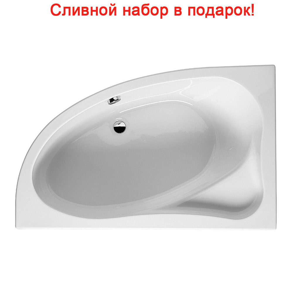 Акриловая ванна Riho Lyra 170x110 Правая акриловая ванна riho lyra 170x110 r правая без гидромассажа ba6300500000000
