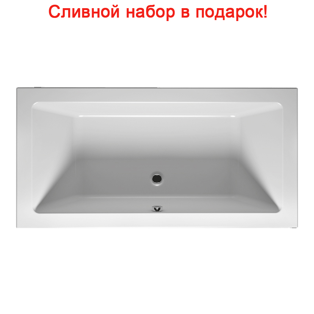 Акриловая ванна Riho Lugo Slim 190x80 без гидромассажа