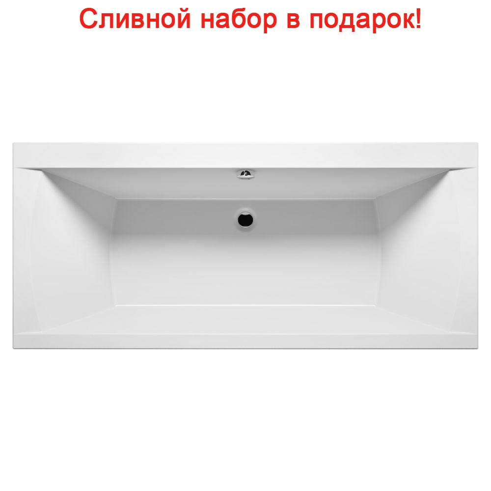 Акриловая ванна Riho Julia 190x90 без гидромассажа акриловая ванна riho julia 160x70x46