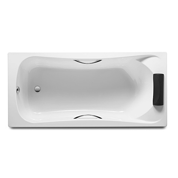 Акриловая ванна Roca BeCool 180х80 без гидромассажа монтажный комплект для ванны santek корсика 180х80