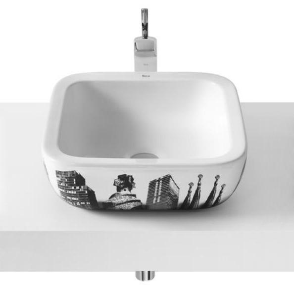 где купить Раковина Roca Urban 32765S00U 40 см, с рисунком города Барселона по лучшей цене