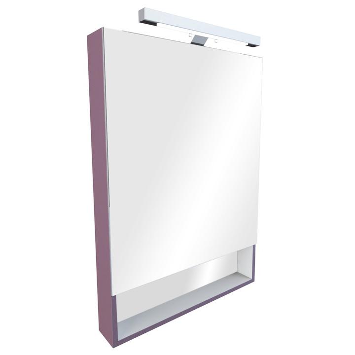 Зеркальный шкаф Roca Gap 70 фиолетовый цена