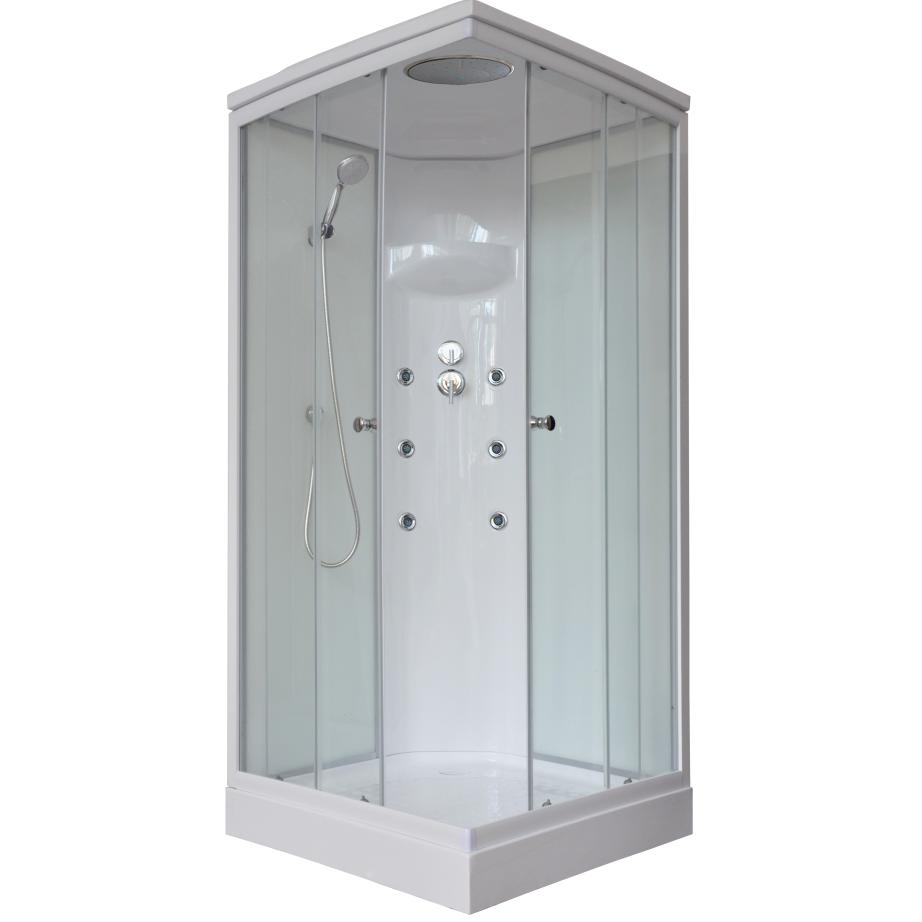 Душевая кабина Royal bath 80НР3-WT 80x80x217 белое/прозрачное