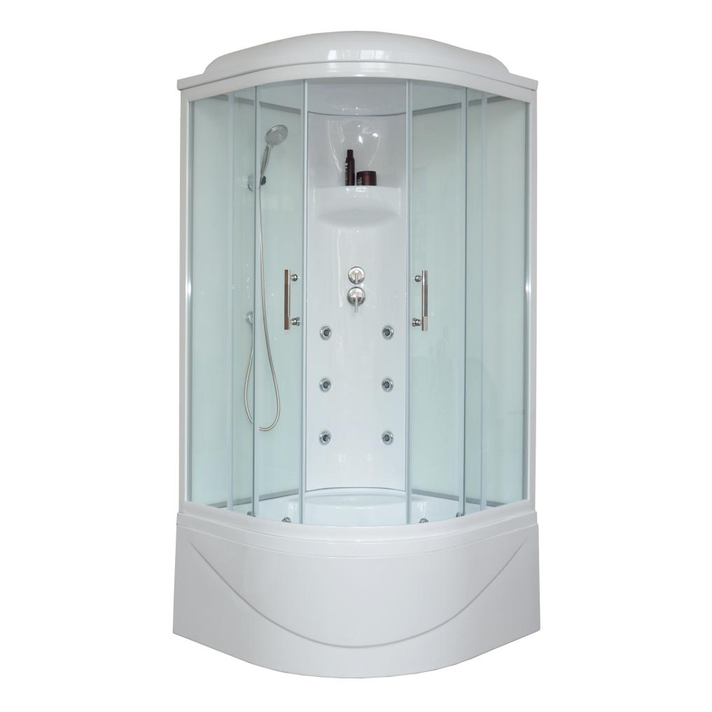 Душевая кабина Royal bath 100BK3-WT 100x100x217 белое/прозрачное