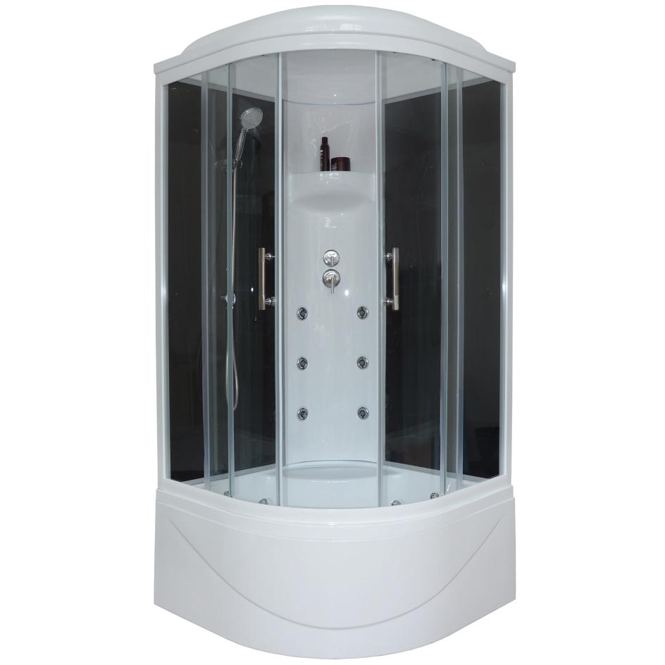 Душевая кабина Royal bath 100BK3-ВT 100x100x217 черное/прозрачное