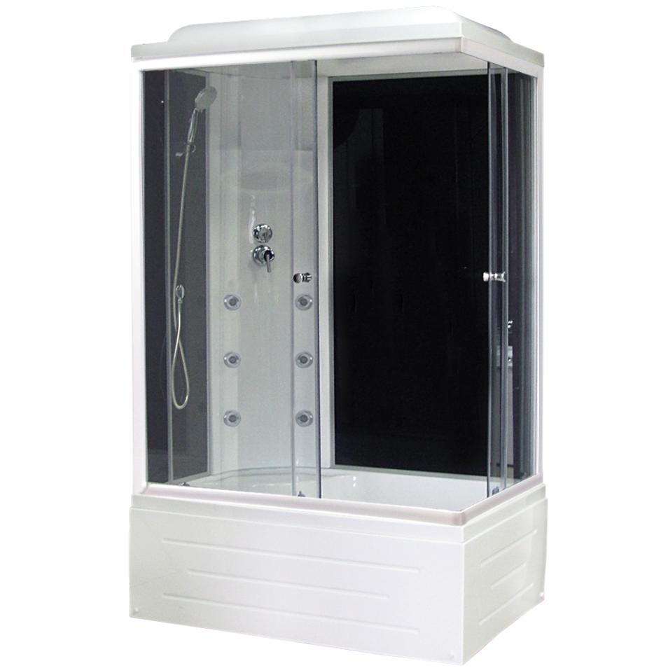Душевая кабина Royal bath 8100BР3-BT 100x80x217 L черное/прозрачное