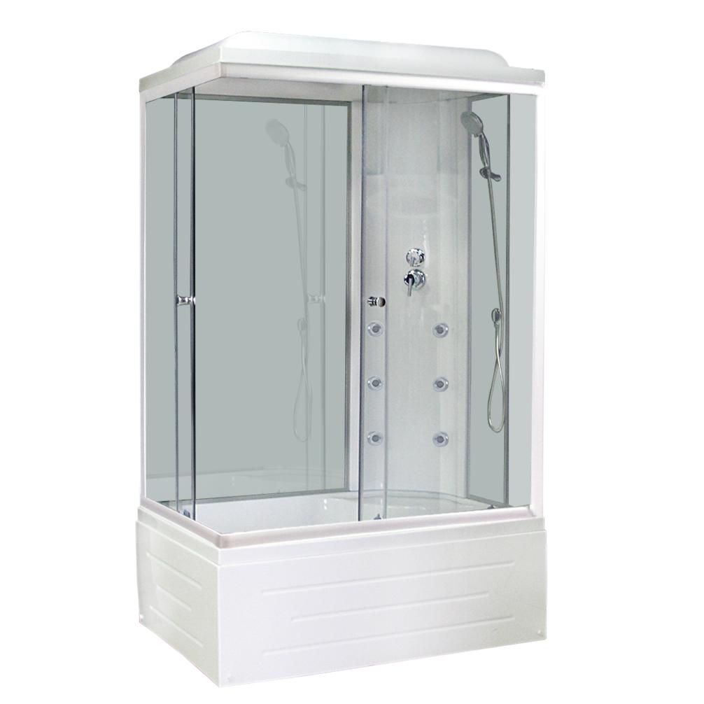Душевая кабина Royal bath 8120BР3-WT 120x80x217 R белое/прозрачное