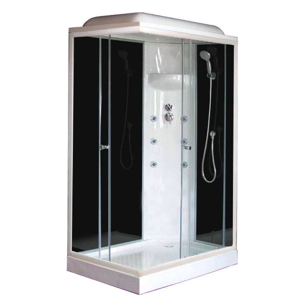 Душевая кабина Royal bath 8120НР3-ВT 120x80x217 R черное/прозрачное