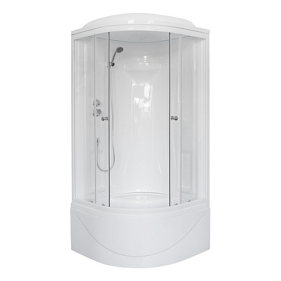 Душевая кабина Royal bath 90BK1-T 90x90x217 белое/прозрачное