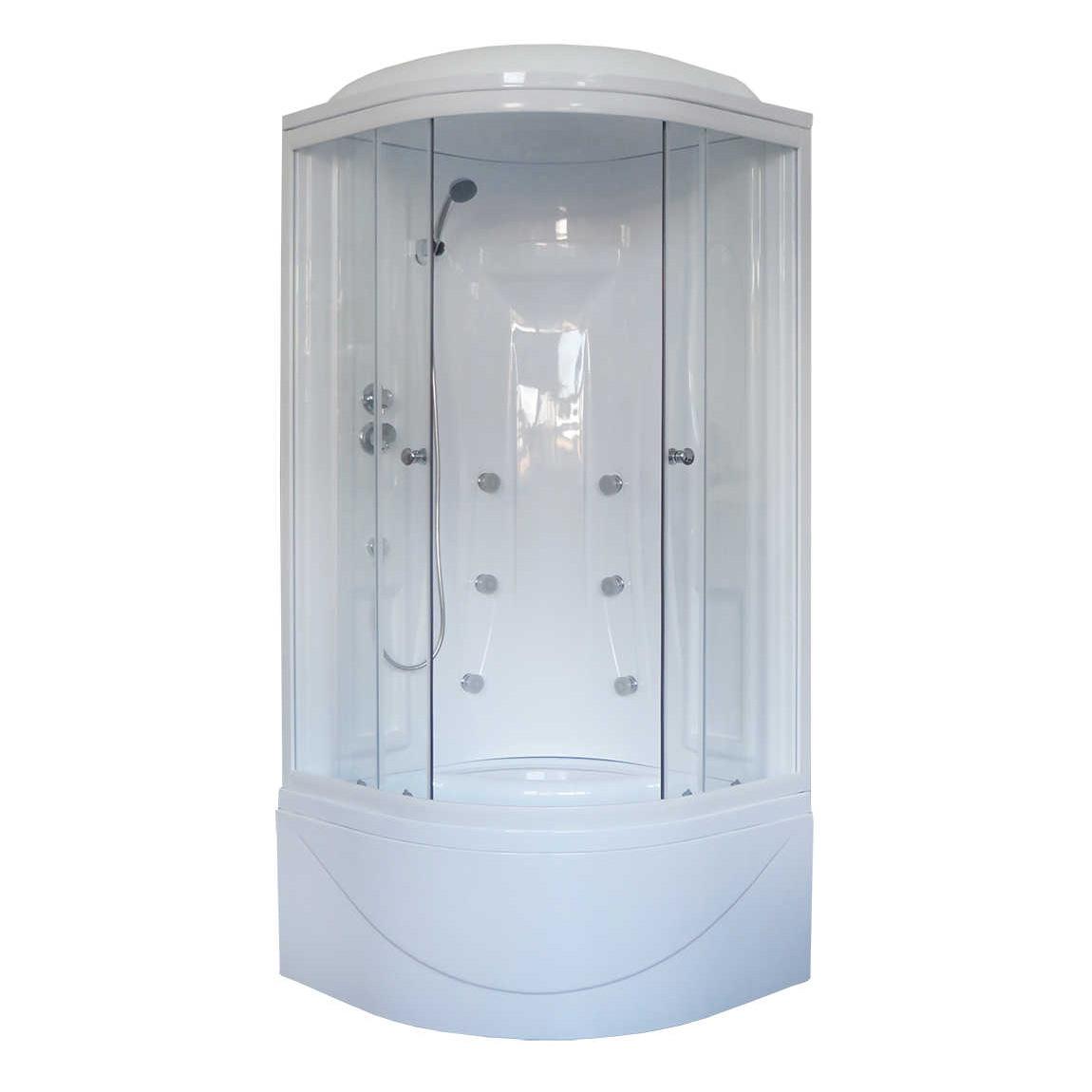 Душевая кабина Royal bath 90BK2-T 90x90x217 белое/прозрачное