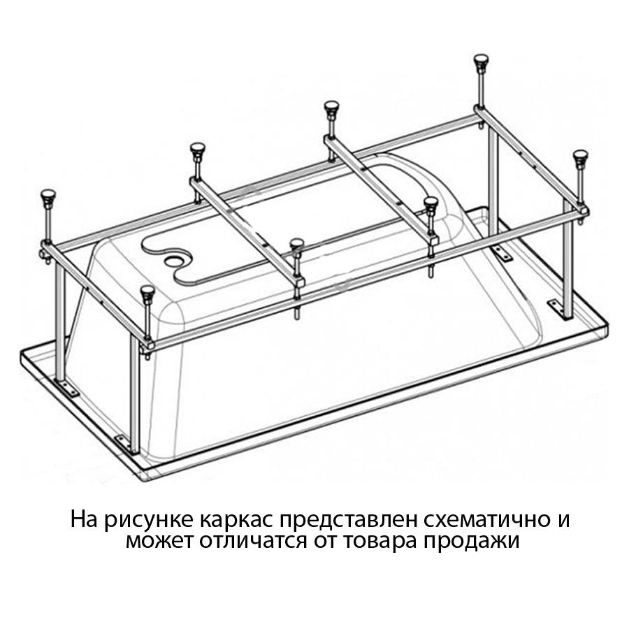Монтажный комплект к ванне Santek Гоа 150х100 santek ибица 150х100 1wh112433