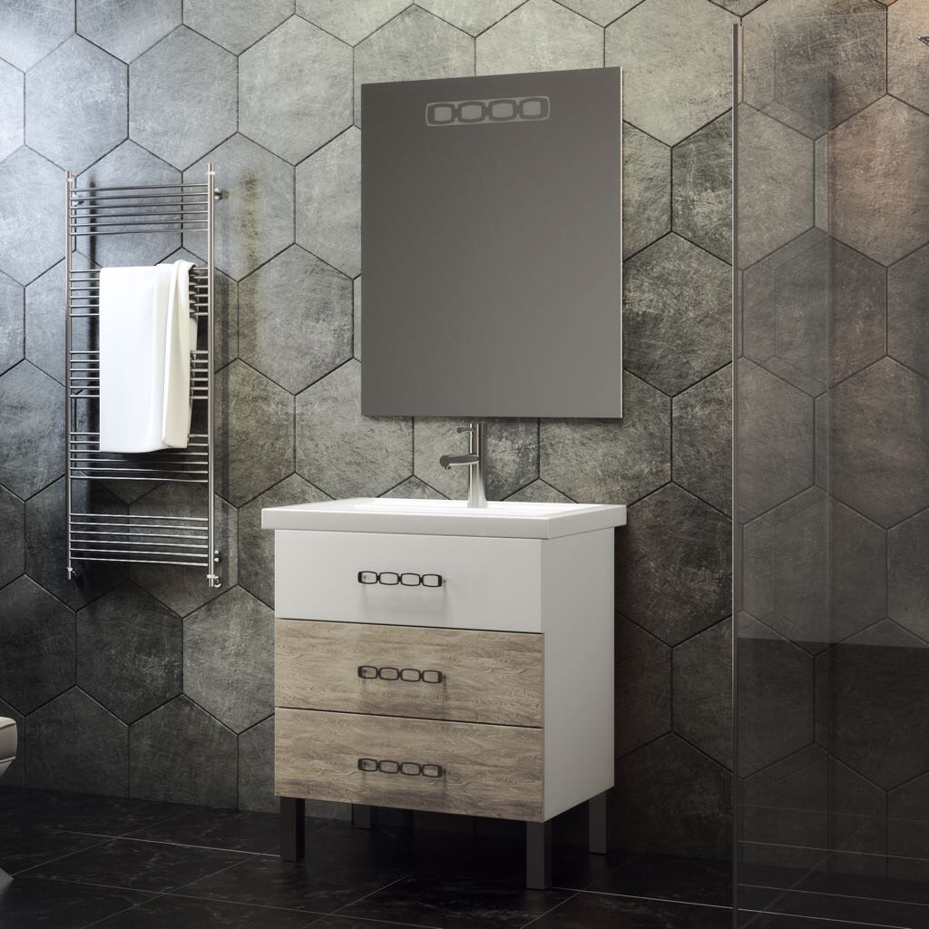 Комплект мебели Smile Боско 60 белый/орегано (светлый) светодиодный беспроводной перезвон дверной звонок дверной звонок
