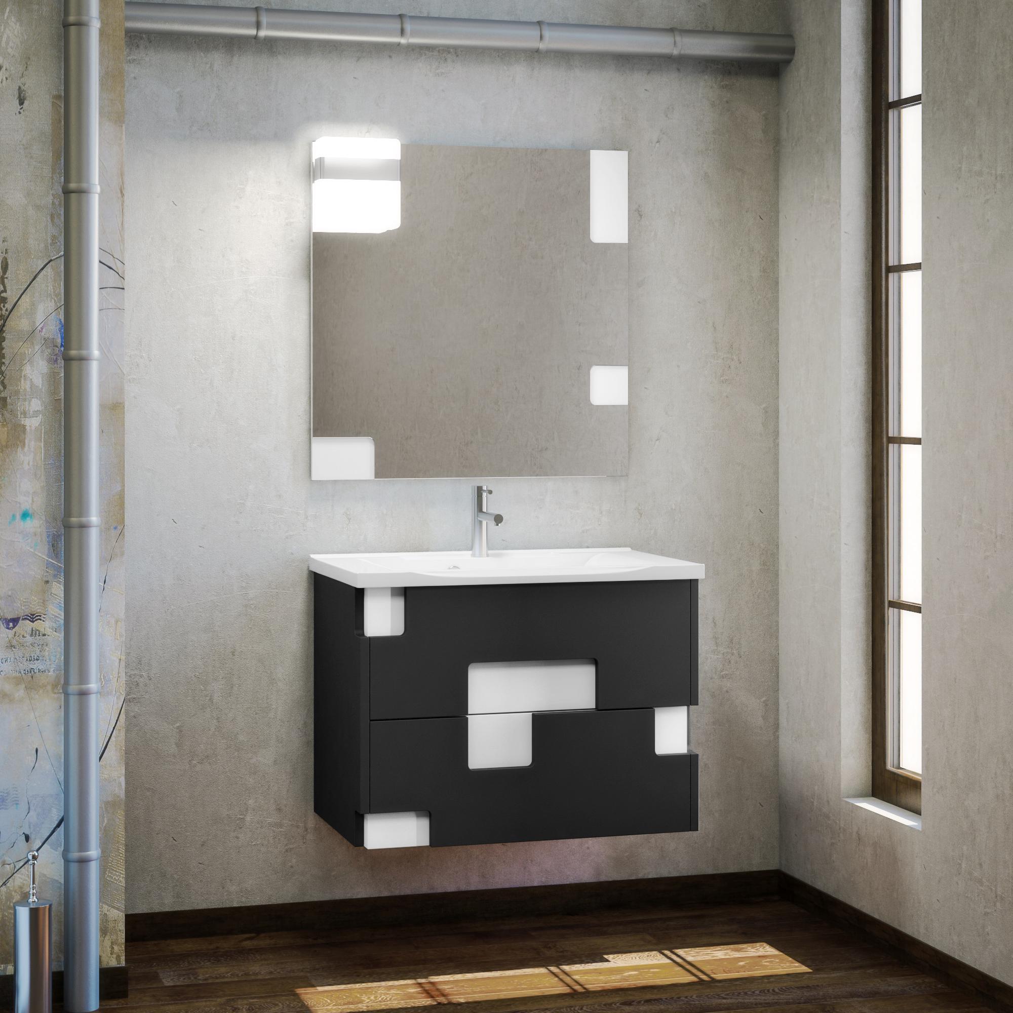 Комплект мебели Smile Санторини 80 белый/серый линейные направляющие sfu1605 450 bk bf12 1set 2set hiwin hgr20 800 hiwin hgr20 400mm 8 hgh20