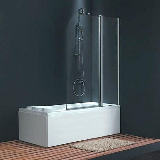 Шторка для ванны Sturm Geta 100 хром прозрачное стекло geta