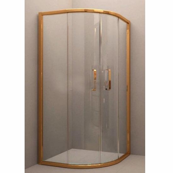 Душевой уголок Sturm Vivien 100x100x195 золото