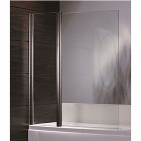 Шторка для ванны Sturm Flow 100 хром прозрачное стекло