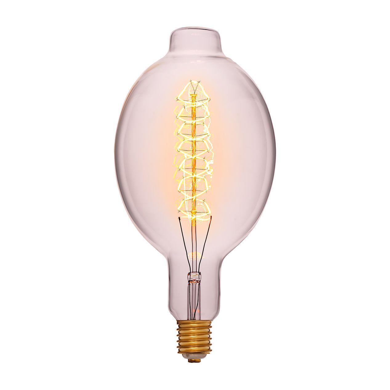 Лампа накаливания E40 95W прозрачная 053-822 лампа металогалогенная 04129 e40 400w 4000к труба прозрачная mh to 400 4000 e40