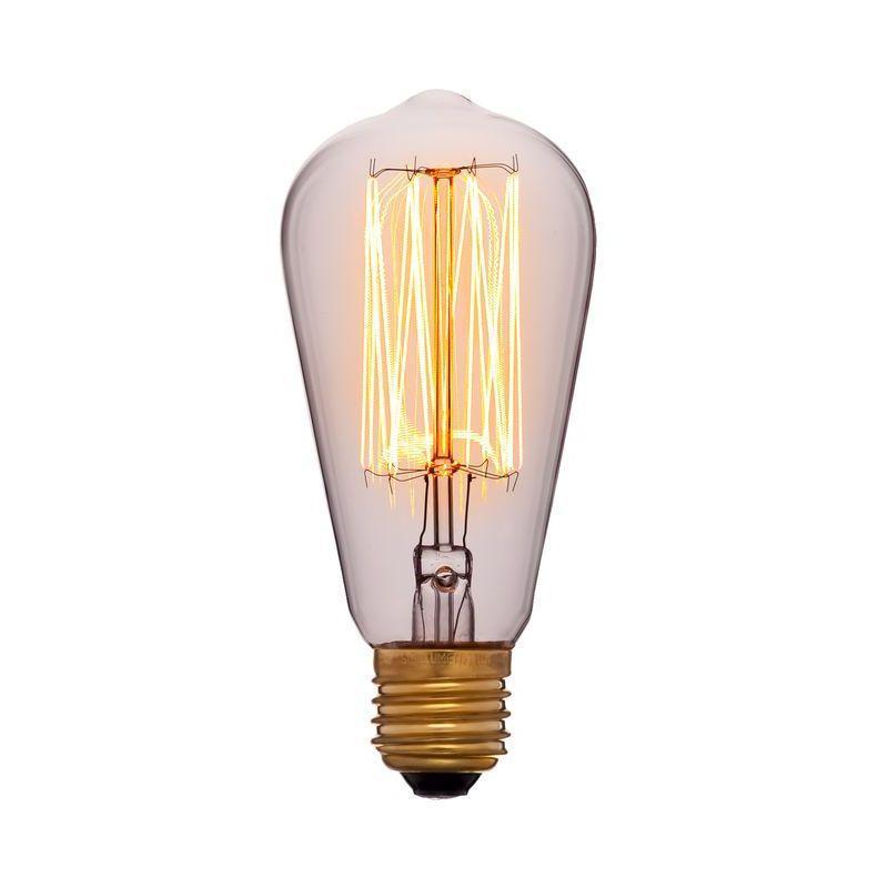 Лампа накаливания E27 60W прозрачная 053-228 sun lumen лампа накаливания sun lumen колба прозрачная e27 60w 053 228