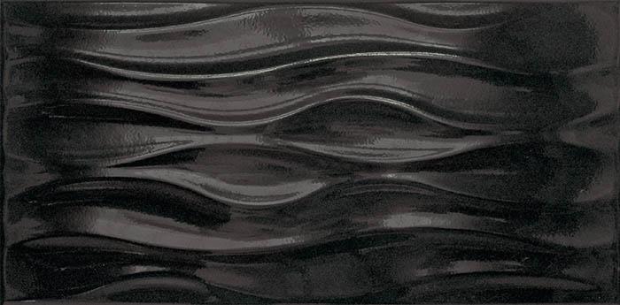 Настенная плитка Tecniceramica Ola Negro Brillo 25х50 плитка настенная 20 1х50 5 splendida rosa negro черный