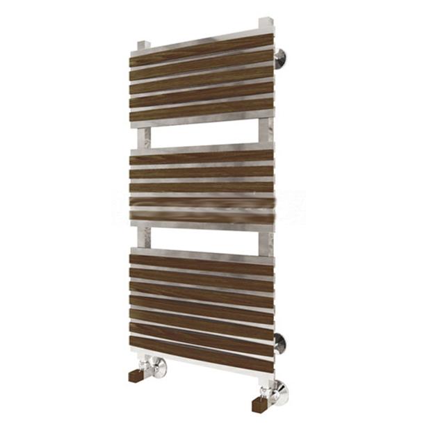 Водяной полотенцесушитель Терминус Венето П15 400x826L деревянные накладки