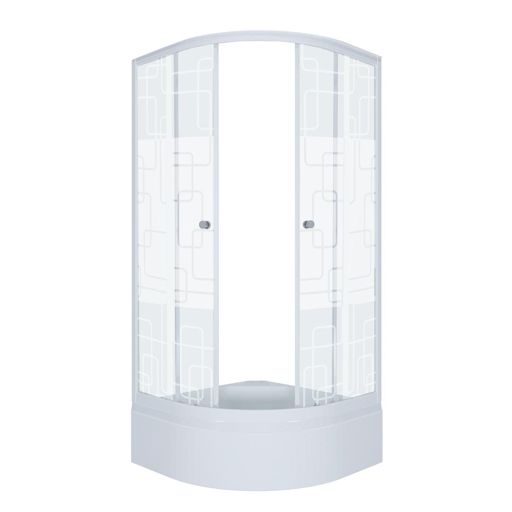 Душевой уголок Тритон Стандарт 90х90 В квадраты с поддоном цена