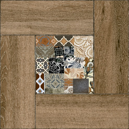 Ранчо Плитка напольная на коричневом коричневая ПГ3РЧ404 / TFU03RNC404 41,8х41,8 плитка напольная 41 8х41 8 ранчо коричневый с серой вст