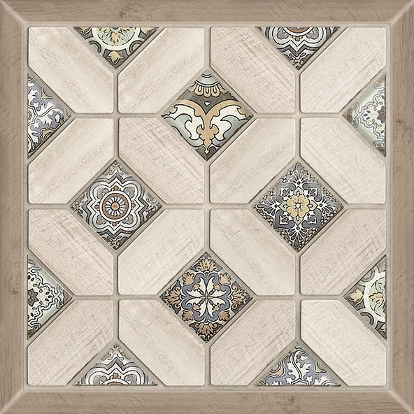 Фиеста Плитка напольная на белом коричневая ПГ3ФС034/ TFU03FST034 41,8х41,8 цены онлайн