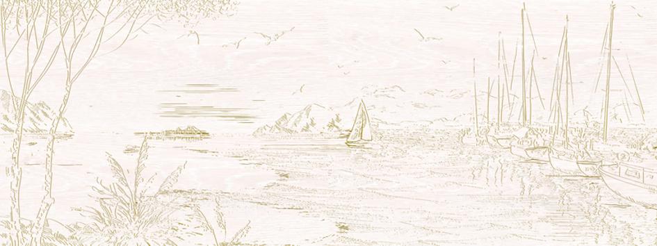 Novella Панно из 4 плиток PWU06NVL1 30х80 декор уралкерамика novella 004 15x40