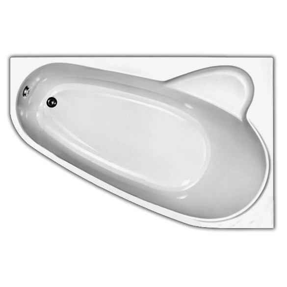 Акриловая ванна Vagnerplast Selena 160x105 правая акриловая ванна vagnerplast penelope 170x70