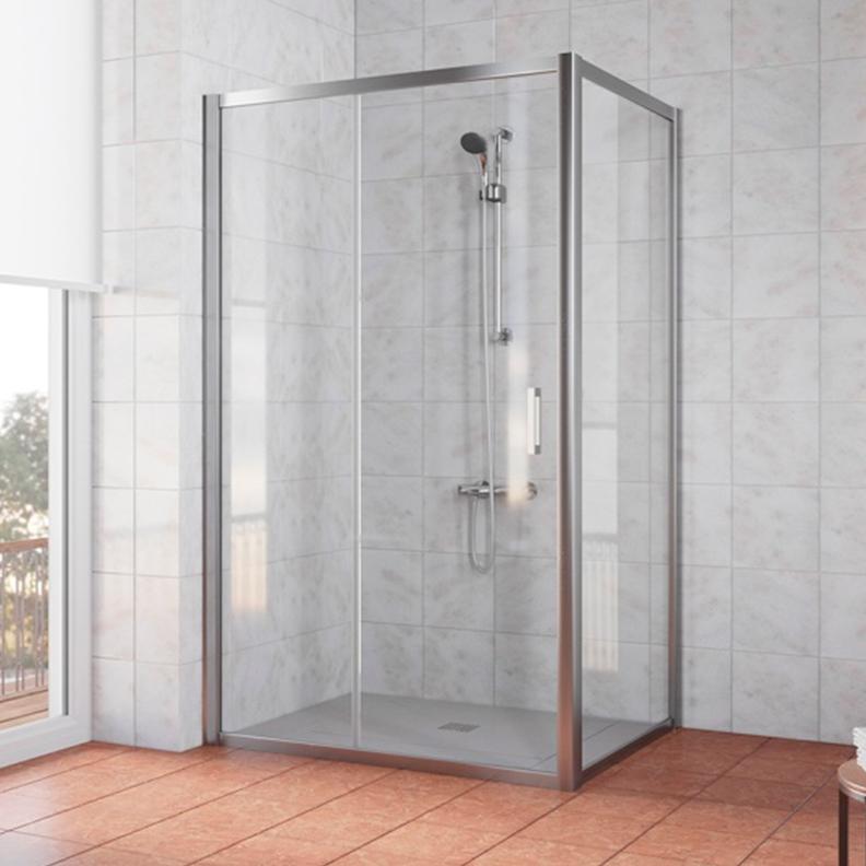 Душевой уголок Vegas Glass ZP+ZPV 115*100 08 01 стекло прозрачное, профиль глянцевый хром душевой уголок royal bath 100 100 198 стекло шиншилла rb10hkc