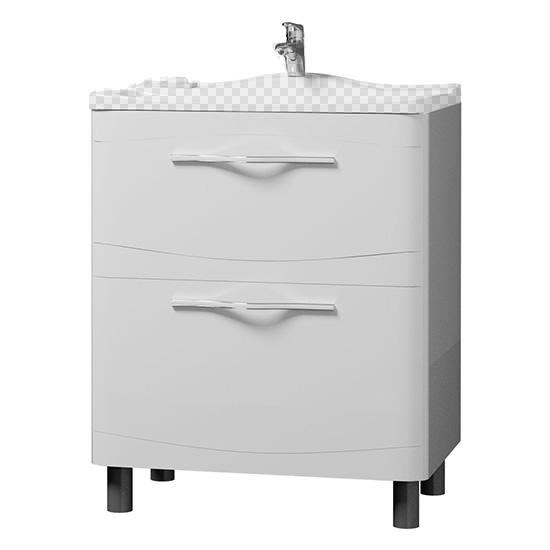 Тумба под раковину Velvex Iva 65 напольная белая iva мебель для ванной