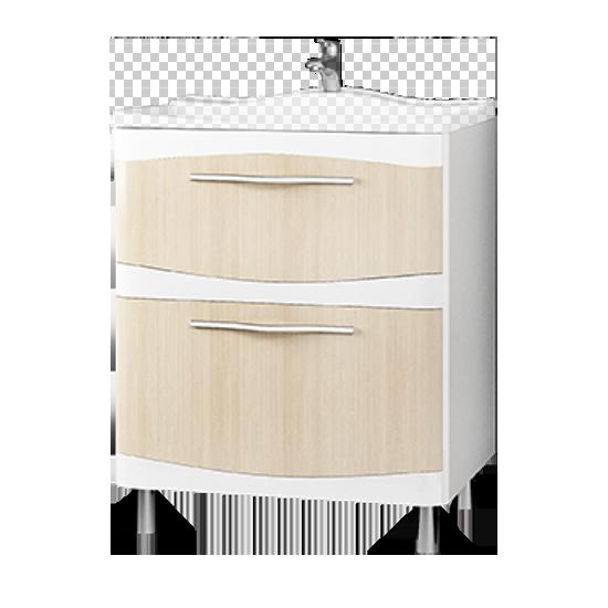 Тумба под раковину Velvex Iva 65 напольная лен iva мебель для ванной
