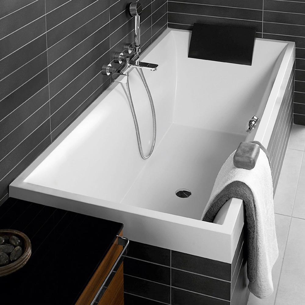 Квариловая ванна Villeroy&Boch Squaro BQ180SQR2V цена