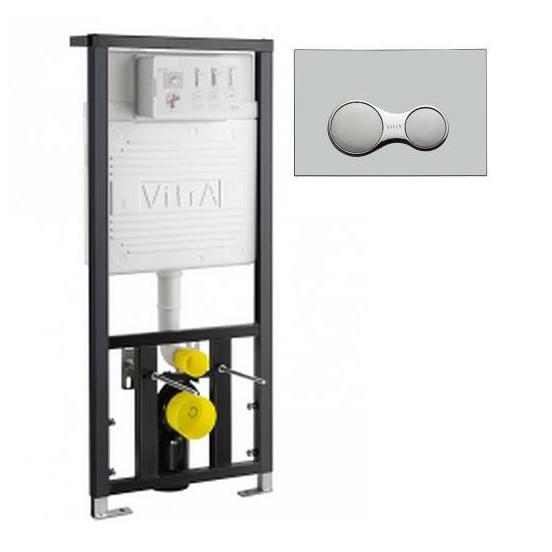 Инсталляция для унитаза Vitra 12S 700-1873 с кнопкой смыва инсталляция vidima инсталляция для унитаза с панелью смыва w3714aa