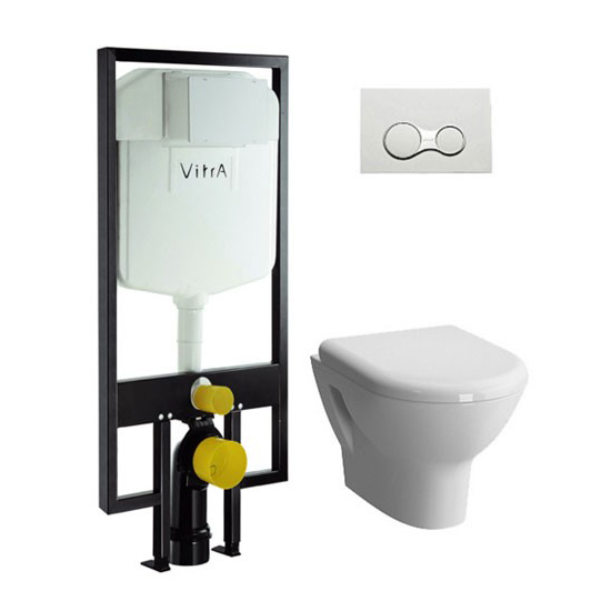 Подвесной унитаз с инсталляцией Vitra Zentrum 9012B003-7205 brass concealed shower mixer three function shower valve hot and cold function concealed mixing valve wall switch