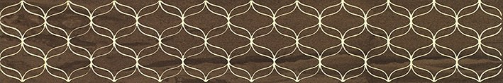 Ethereal Бордюр коричневый K944347 9х60 vitra ethereal brown l beige geometric lines decor mix glossy 30x60