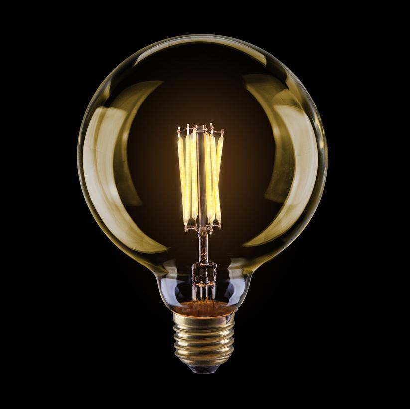 Лампа светодиодная филаментная диммируемая E27 8W 2800К золотая VG10-G125Gwarm8W 6838 voltega лампа светодиодная диммируемая voltega груша прозрачная e27 8w 4000k vg10 а1e27cold8w fd 5489