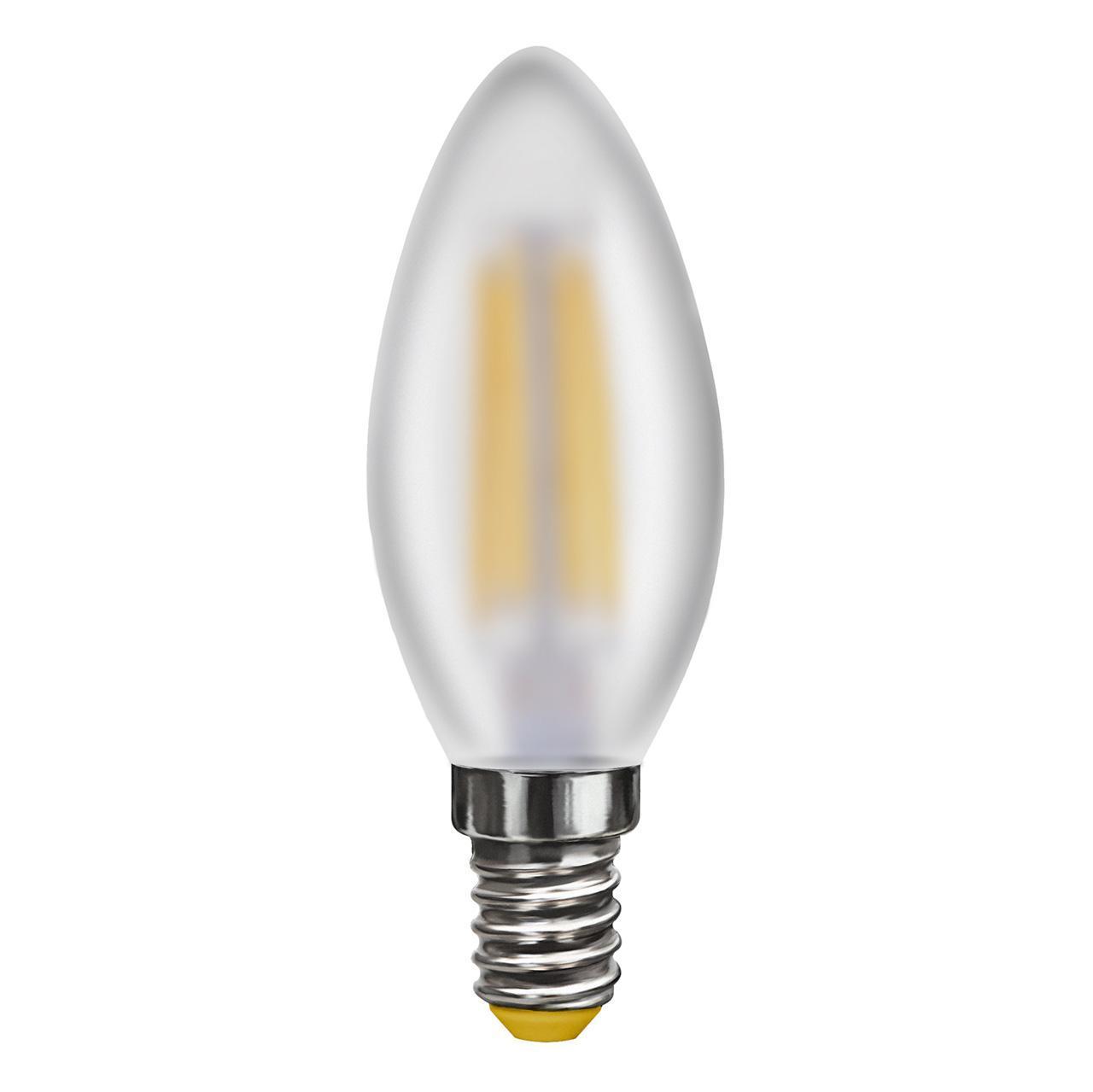 Лампа светодиодная E14 6W 2800K матовая VG10-C2E14warm6W-F 7044 voltega лампа светодиодная voltega свеча на ветру прозрачная e14 6w 2800k vg10 cw1e14warm6w f 7017