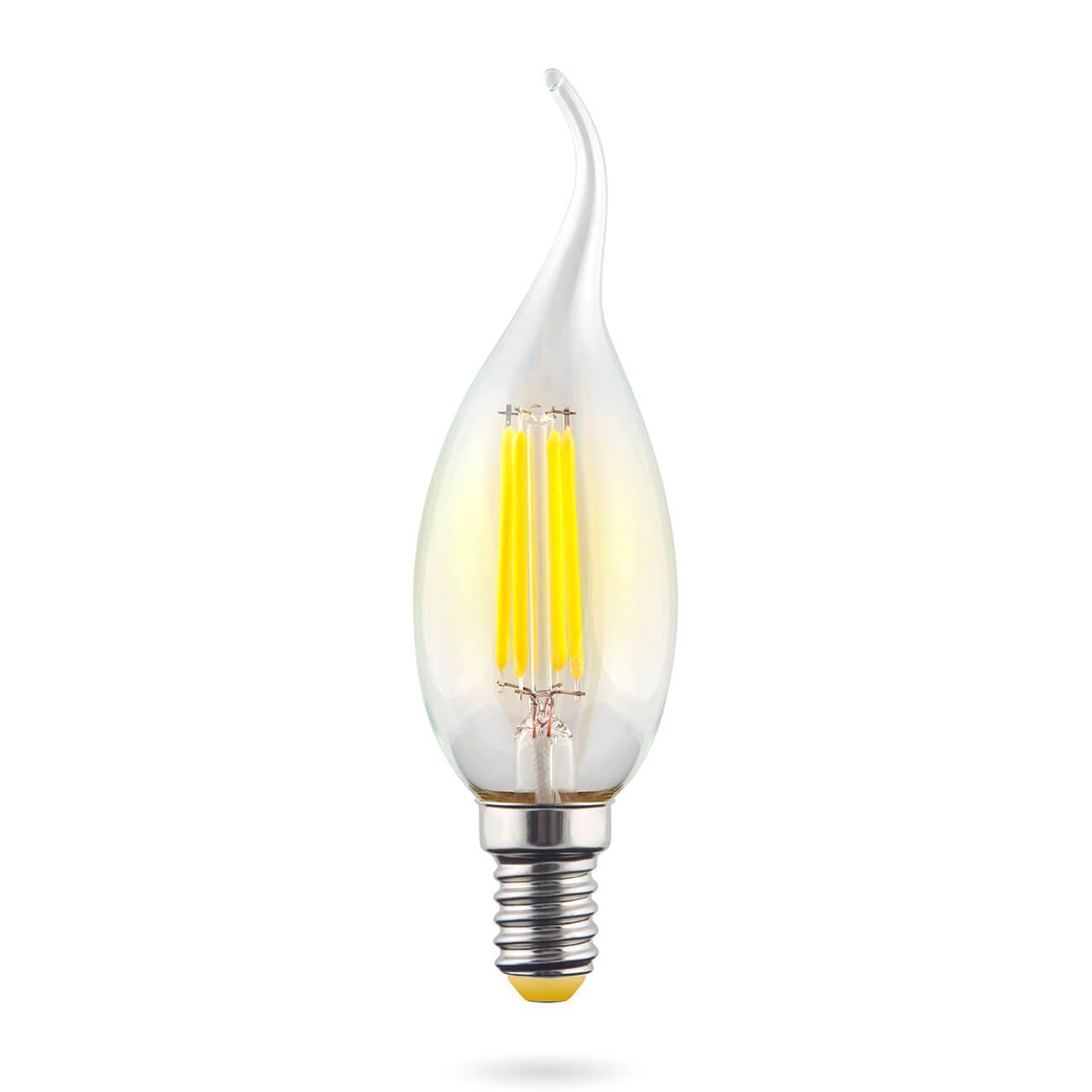 Лампа светодиодная E14 6W 2800К прозрачная VG10-CW1E14warm6W-F 7017 voltega лампа светодиодная voltega свеча на ветру прозрачная e14 6w 2800k vg10 cw1e14warm6w f 7017