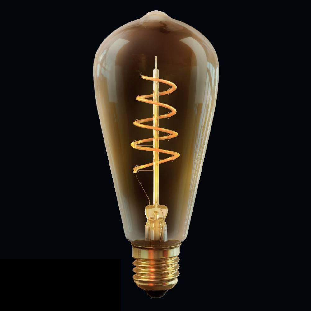Лампа светодиодная диммируемая E27 4W 2800К прозрачная VG10-ST64GE27warm4W-FB 7077 voltega лампа светодиодная диммируемая voltega груша прозрачная e27 8w 4000k vg10 а1e27cold8w fd 5489
