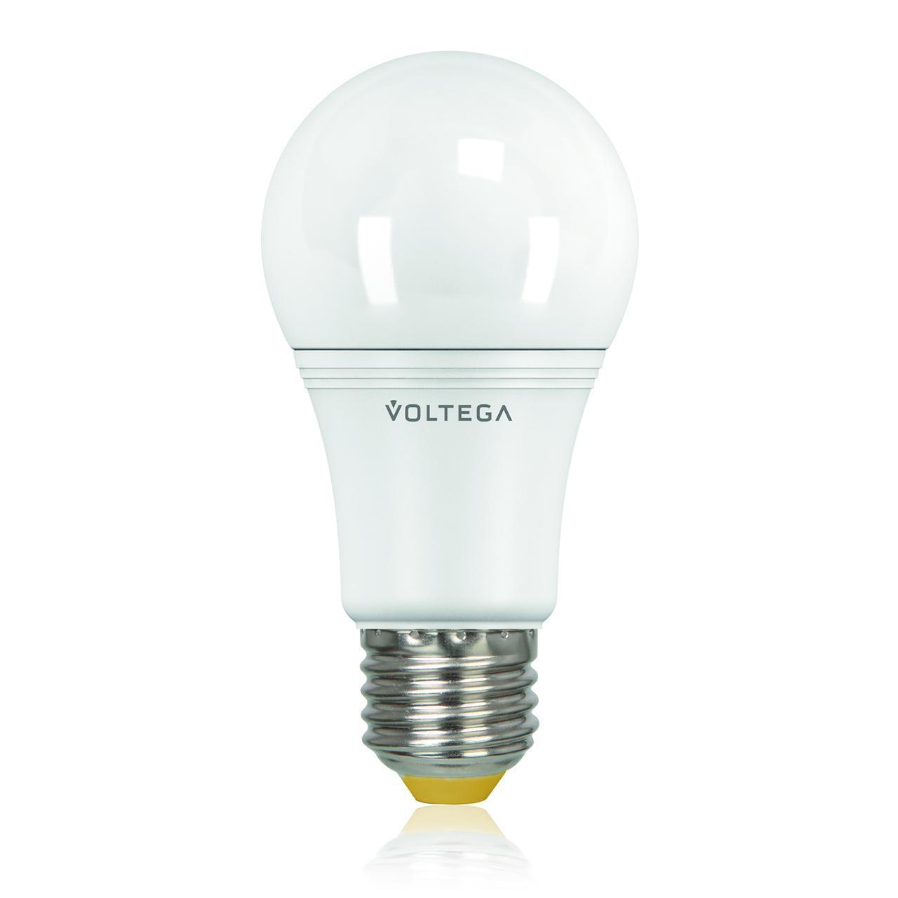 Лампа светодиодная E27 10.5W 2800К матовая VG2-A2E27warm11W 5737 voltega лампа светодиодная voltega таблетка матовая gx53 7 2w 2800к vg2 t2gx53warm7w 5739