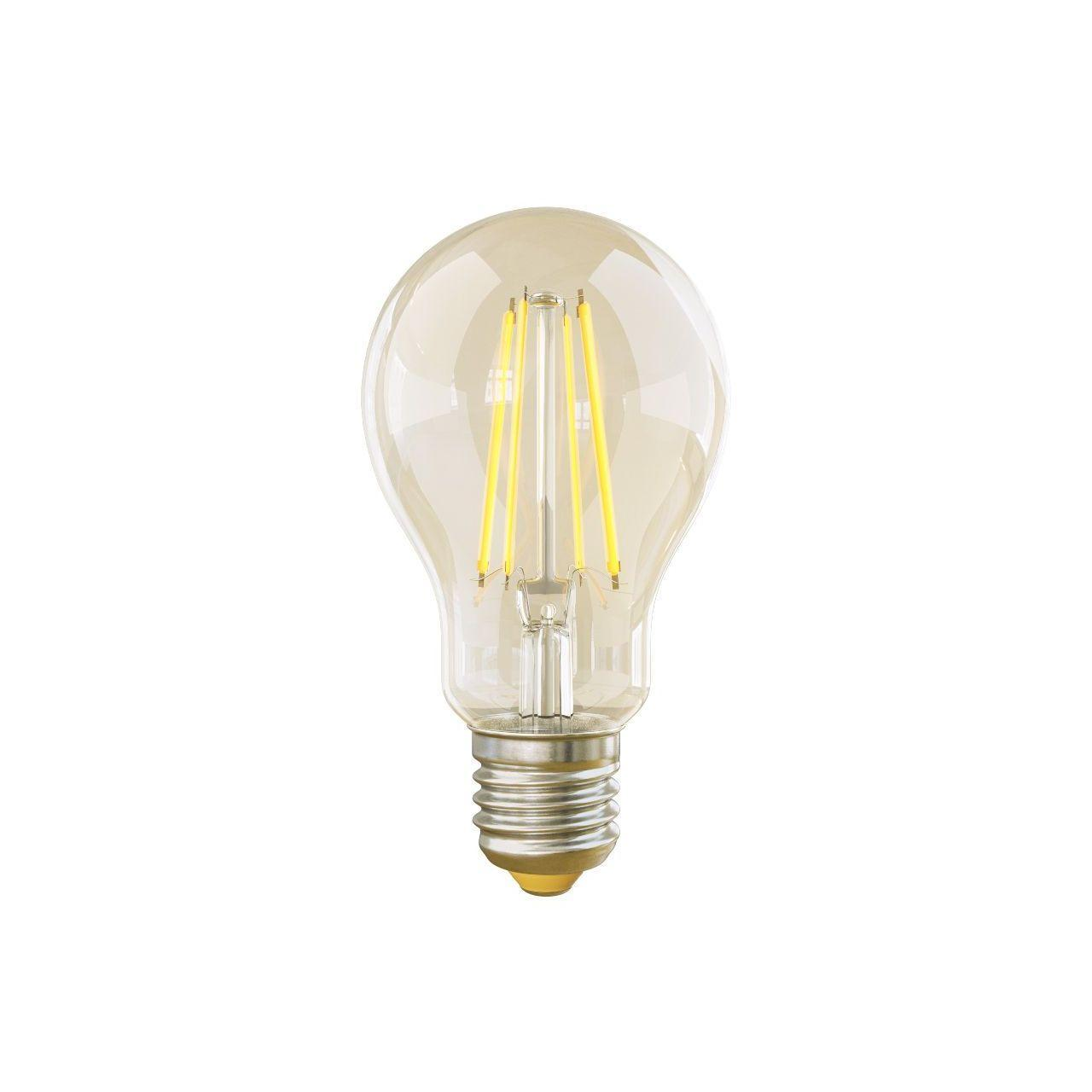 Лампа светодиодная филаментная диммируемая E27 8W 2800К прозрачная VG10-А1E27warm8W-FD 5489 voltega лампа светодиодная диммируемая voltega груша прозрачная e27 8w 4000k vg10 а1e27cold8w fd 5489