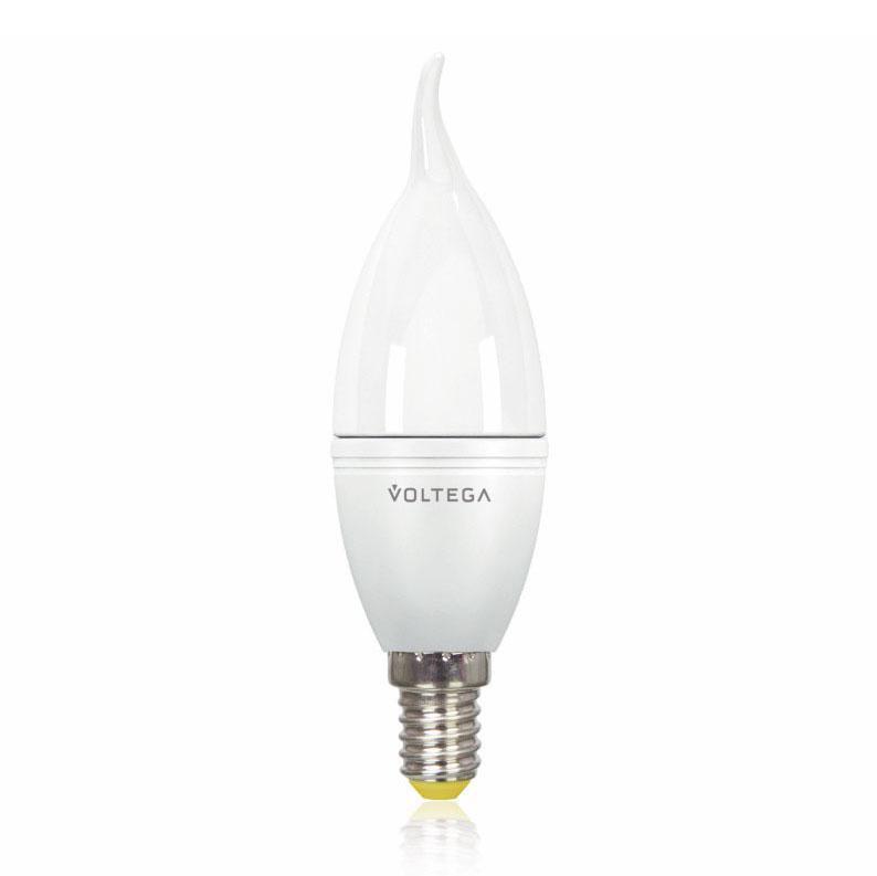 Лампа светодиодная E14 5.5W 2800К матовая VG2-CW2E14warm5W 8339 voltega лампа светодиодная voltega таблетка матовая gx53 7 2w 2800к vg2 t2gx53warm7w 5739