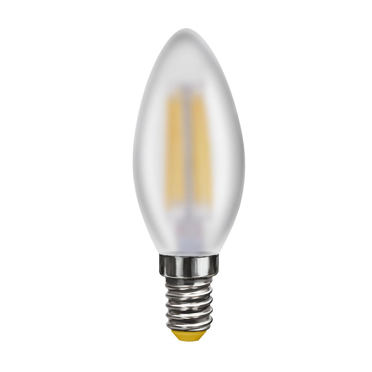 Лампа светодиодная филаментная E14 4W 2800К матовая VG10-C2E14warm4W-F 6999 цена